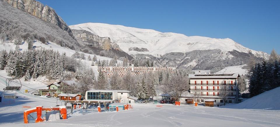L'Hotel Bucaneve sulle piste da sci