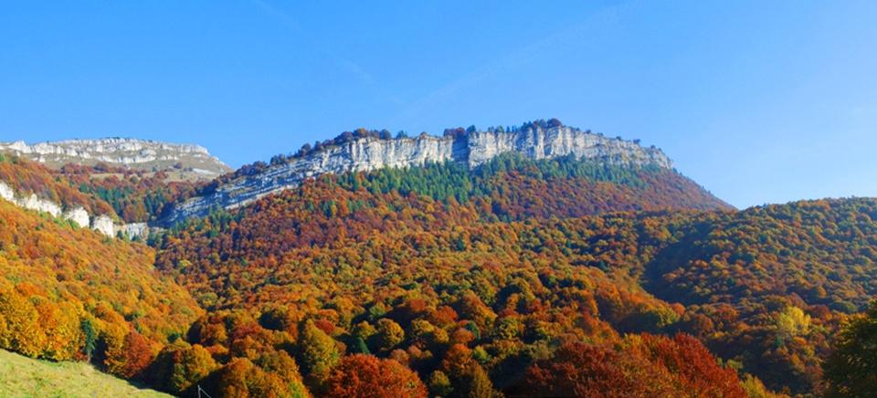 Il Monte Baldo in autunno.